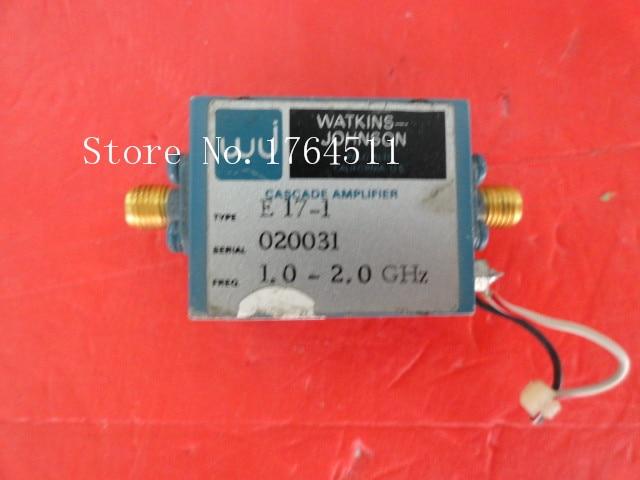 [BELLA] WATKINS JOHNSON E17-1 1-2GHZ SMA Amplifier Supply