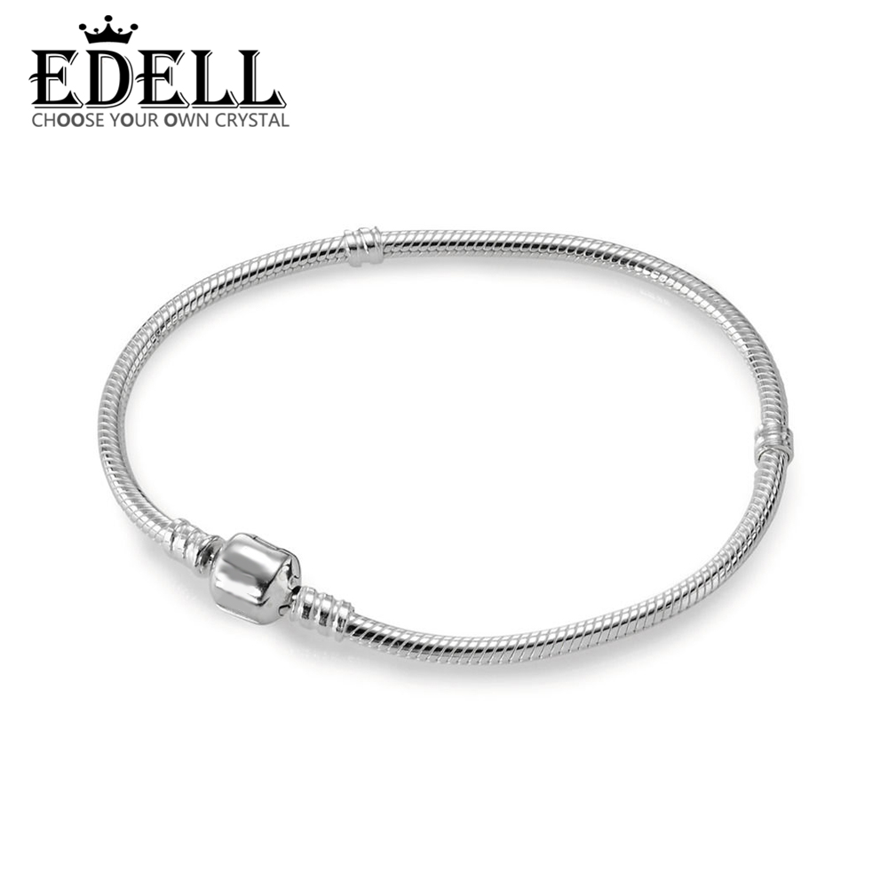EDELL 100% 925 Sterling Silver 1:1 Authentic 590702HV Charm Bracelet Original Women Jewelry pop relax korea jade massage bed electric heating jade stone spine relax massager health care full body rolling massage bed