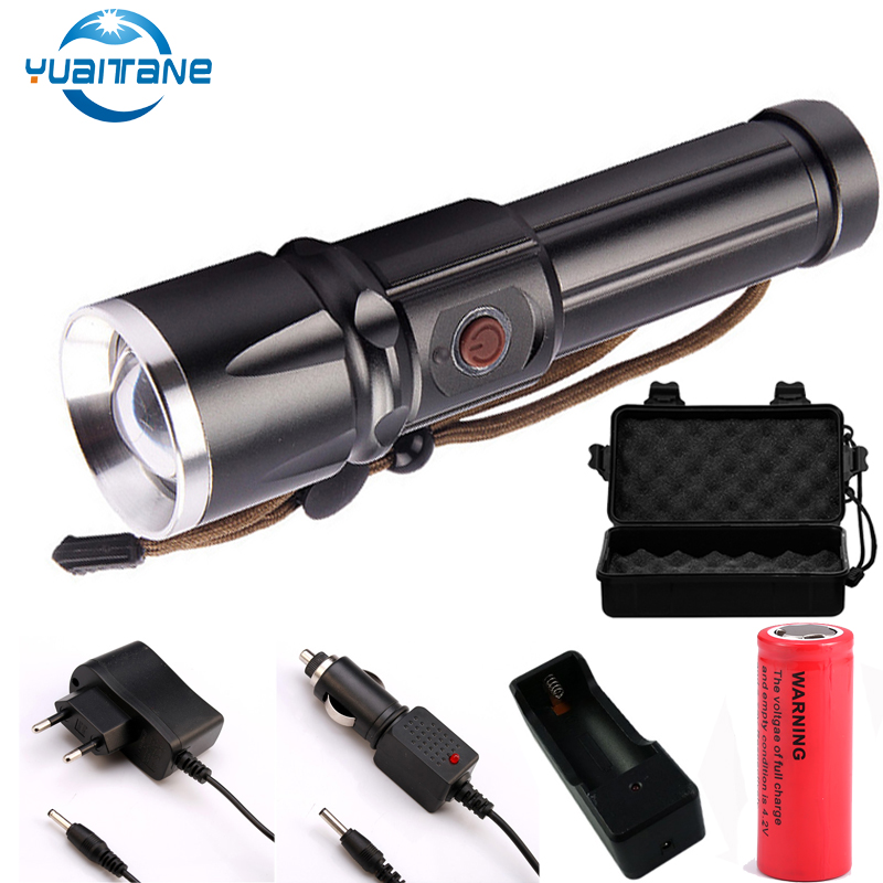 3500 Lumens LED <font><b>X900</b></font> LED Tactical Flashlight L2 T6 Torches Zoomable Flash Light Lamp Lanterna Torch For 18650/26650 Battery image