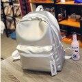 Fashion laser Unisex  backpack unique style bag super cool bag rainbow colorful Sliver school bag  women big travel bag