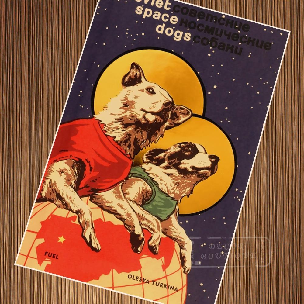 Vintage Soviet Russian Space Program Space Animal Plan ...