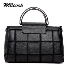 Wilicosh Black Genuine Leather Bags For Women Patchwork Shoulder Bag Cow Leather Crossbody Bag For Ladies Desigual Bag DF0134