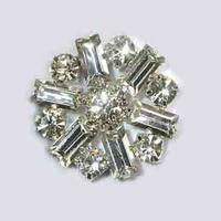 Fashion 2017 nieuwe 30mm kristallen baguette stenen fancy bloemen button fashion wedding bridal uitnodiging gift ornament accessoires