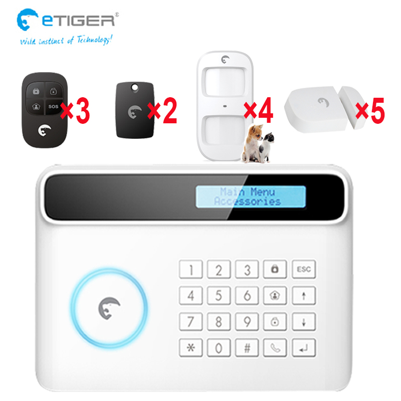 etiger S4 GSM/PSTN security alarm system thief intrude alarm home safety wireless sensor