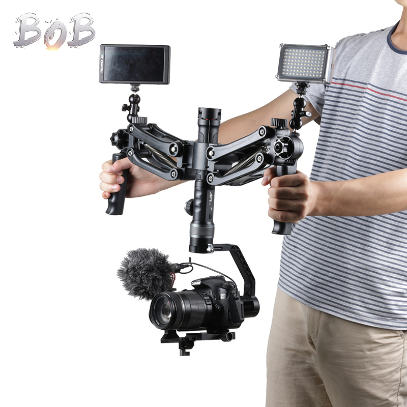 Accessoires de cardan BOB Buster double bras nadle w plate-forme de poignée Steadicam à ressort pour grue Zhiyun 2 Feiyu AK2000 DJI RONIN S Moza