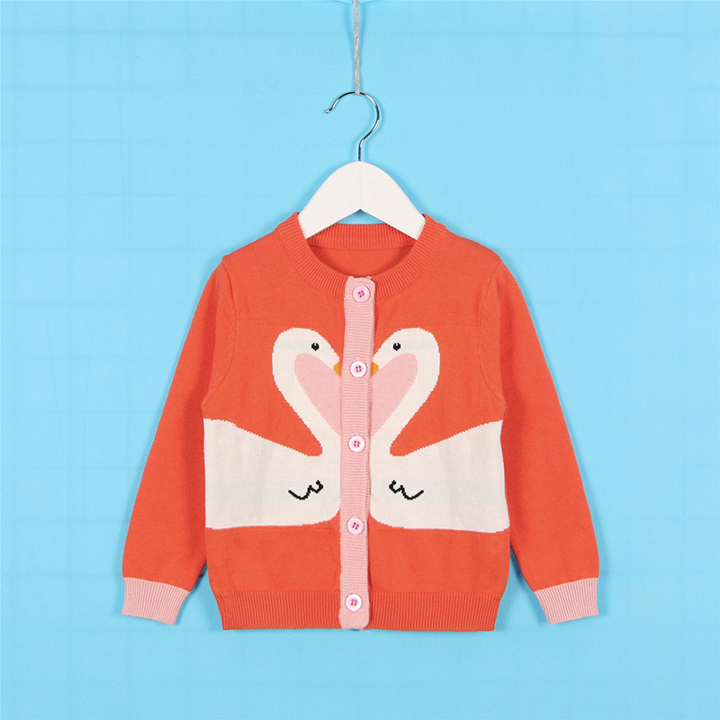 95333ad6cc69 Aliexpress.com   Buy Sweet Boys Girls Ins Candy Swan Knitted Sweater ...