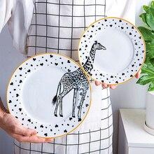 2 Teile/los Zoo Cartoon Puzzle Platten 8 Zoll 10 Zoll Ceramic Rund Geschirr  Und Platten Moderne Geschirr Dishes 068