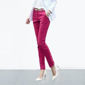 Image 5 - Casual Plus Size 4XL Office Pencil Pants Women 2019 Factory Wholesale Cheap 95%Cotton Stretch Trousers Women Work Pants Ladies
