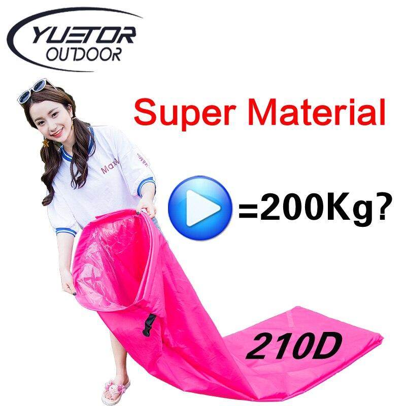 Yuetor Super Matériel 210D anti-déchirure Canapé Transat Plage Laybag air canapé Camping Portable Plage Lit gonflable lit d'air