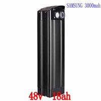 48V 18AH Lithium Battery Use Samsung ICR 18650 30B Cell With Black Case 2A Charger Usb