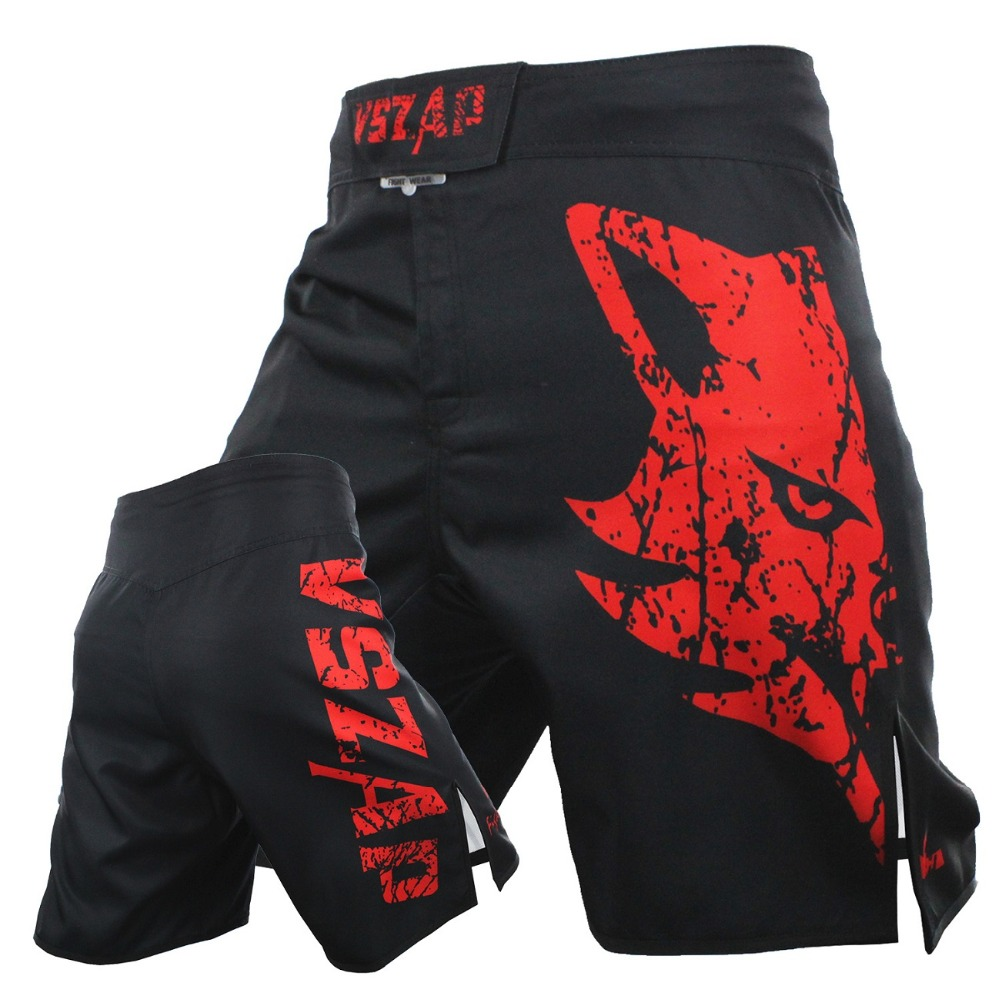 VSZAP Pantalon MMA Fight Boxing Shorts Motion Clothing Cotton Loose Size Training Kickboxing Shorts Muay Thai MMA Shorts Mens
