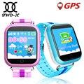 Kids gps smart watch q100 com aprendizagem precoce 1.54 polegada tela sensível ao toque wi-fi relógio Q750 Chamada SOS Rastreador para o Miúdo do bebê Seguro PK Q90