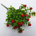 Alta Simulación Eucalipto Eucalipto Fruta Roja Feliz Fruta Hierba Hojas Plantas Artificiales Decoración Para el Hogar Envío Gratis