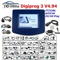 Digiprog3 set Completo Digiprog 3 V4.94 programmatore DigiprogIII Dell'odometro Chilometraggio Strumento Corretto per Molte Automobili Con EU/Spina DEGLI STATI UNITI