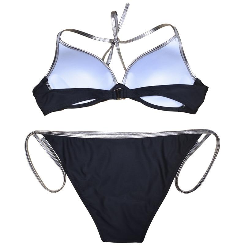 HTB1hACqafc3T1VjSZPfq6AWHXXag Bordered bikinis set Two piece swimsuit women bikini 2019 mujer push up Bandage bathing suits Plus size swimwear women S-XL-XXL