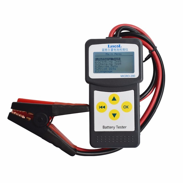 Car CAA Battery Tester 12V lead acid battery tester Lancol MICRO 200 Auto accu tester Battery measurement unit Wholesale