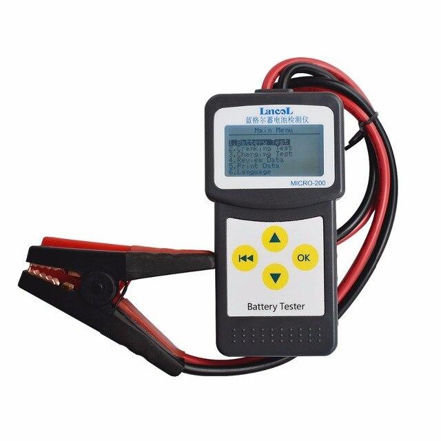 Xe Caa Kiểm Tra Pin 12V Lead Acid Bút Thử Lancol MICRO 200 Tự Động Máy Kiểm Tra Pin Đơn Vị Đo Lường Bán Buôn