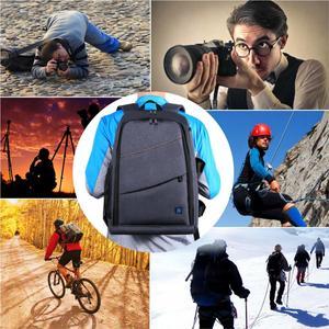Image 2 - กระเป๋าเป้สะพายหลังกันน้ำ DSLR พร้อมช่องเสียบหูฟังแจ็คหูฟังวิดีโอดิจิตอลกล้อง DSLR กระเป๋ากล้องสำหรับ Nikon Canon เลนส์