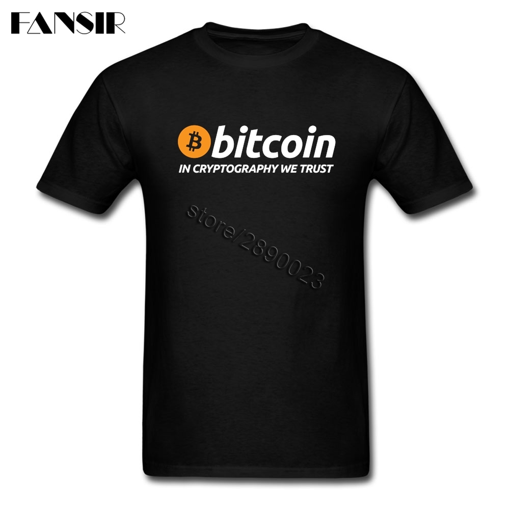 Men T-shirt Summer Short Sleeve O Neck Tee Shirts Men Bitcoin In Cryptography We Trust Guys Tops Tee