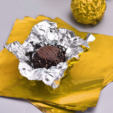 500pcs Chocolate Aluminum Foil Chocolate Wrapping Tin Paper Candy Packaging Wrapper Aluminum Foil Paper Birthday Party Supplies(China)