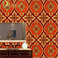 High Quality Damask Gold Wallpaper Rolls Bedroom Sofa Living Room Background Embossed Glitter Luxury Gold Foil