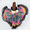 720 Degree Printed BellyDance Tribal Maxi Belly Dance Gypsy Costume Clothes Women Long Gypsy Skirts