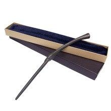 Новые Высокое качество Гарри Поттер Металл Core Bellatrix Lestrange волшебная палочка с подарком синий упаковка коробки Рождество косплэй игрушка