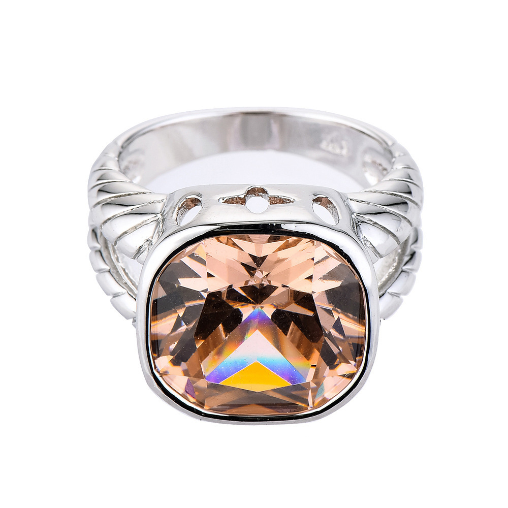Vintage natural CZ Stone women 39 s Rings Punk Style Stainless Steel Ring for women Jewelry High Quality women Ring With Crystal in Rings from Jewelry amp Accessories