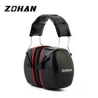 ZOHAN шумоподавление защитные наушники NRR 35dB шутеры наушники для защиты от шума Регулируемая съемка защита ушей