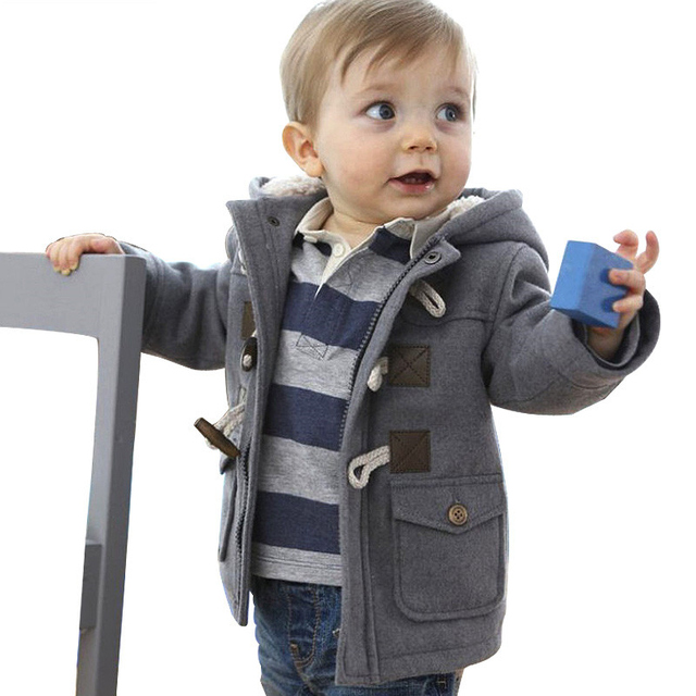 Fashion Baby Boys Jacket Winter Full Clothing Child Outerwear Coat Thicken Cotton Kids Cardigan Hooded Children's Boy Clothes