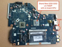 Free Shipping NEW For Acer Aspire 5253 5250 Laptop Motherboard P5WE6 LA 7092P With AMD Cpu