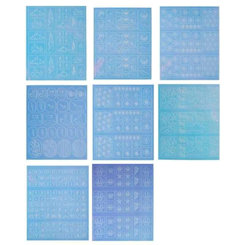 1 шт. наклейки для дизайна ногтей прозрачные наклейки трафарет рукоделие принт наклейки для ногтей украшения для ногтей аксессуары для ногтей