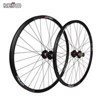 Meijun 26 ''inch 32หลุมmtbจักรยานเสือภูเขาถนนจักรยานดิสก์เบรกล้อฮับริมมีดวงกลมwheelsetชิ้นส่วน
