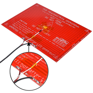 Image 2 - MK2A cama caliente 300x200x2,0 con resistencia led y cable RepRap rampas 1,4 + 100K ohm NTC 3950 termistores para impresora 3D