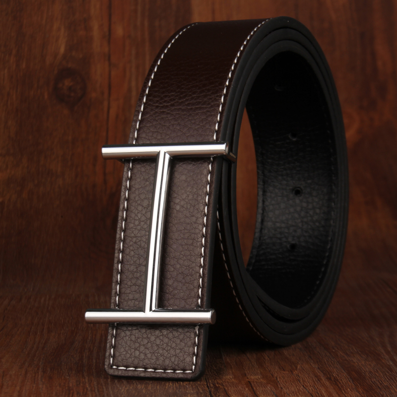 Hommes Ceinture Fashion Ceinture Pantalon Jeans Couture Gaines Noir Mode belt