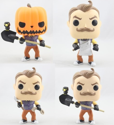 Funko POP Secondhand Hello Neighbor, Pumpkinhead Vinyl Action Figure Collectible Model Toy Cheap No Box funko pop movies walking dead hershel greene action figure model high quality free freight