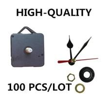 100 sets/lot New 18mm shaft Quartz Clock Movement Mechanism black heart Hands DIY Replace Repair Wall Parts Kit