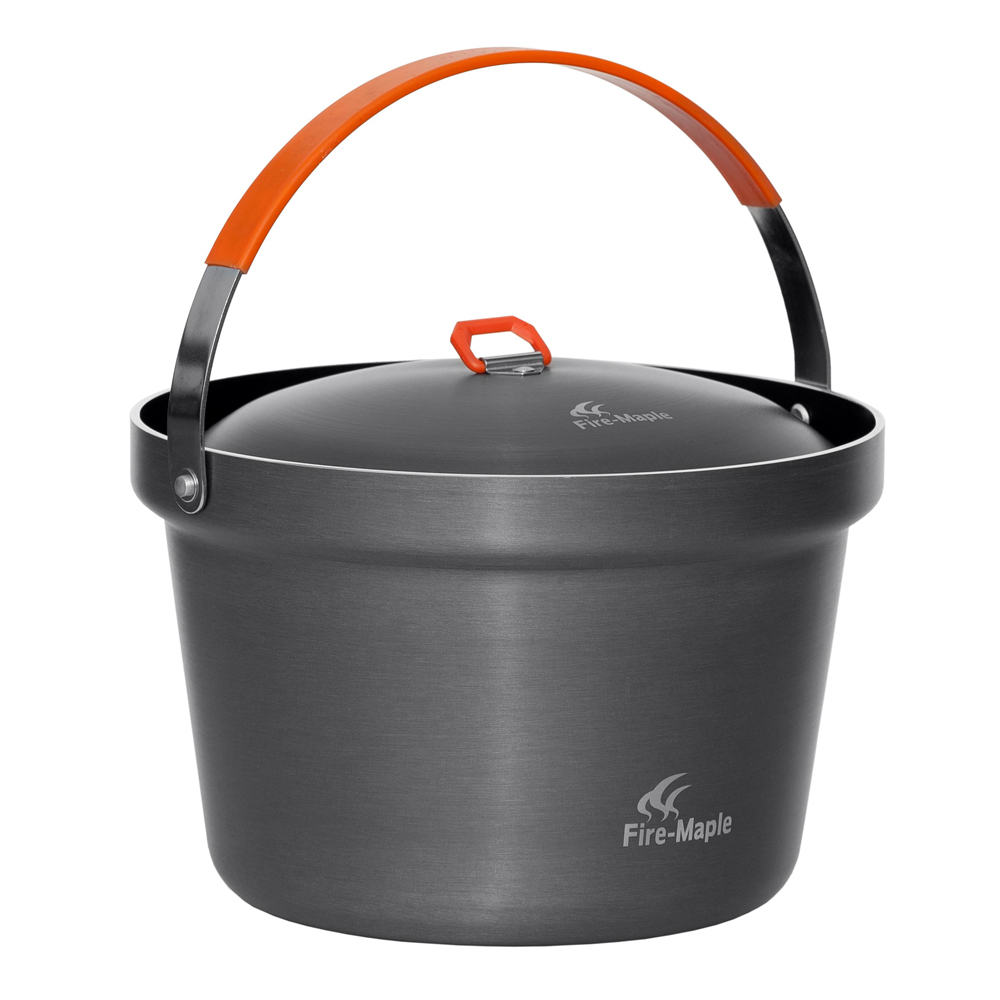 Fire maple feast Outdoor camping picnic cooking pot Thicken the large capacity nonstick skillet Hanging pot