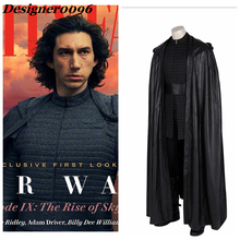 COS Star Wars: The Rise of Skywalker Movie Cosplay Costume 2019 New Kylo Ren Cloak Shoes 1:1 7-pcs Halloween Adult Clothes