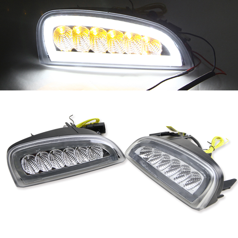Car Styling Daytime Running Lights for Cayenne LED DRL 2006 2007 2008 2009 2010 LED Fog Light Front Lamp Automobile Accessories