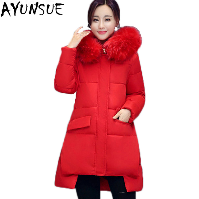 fb8ea1ee6cc0a AYUNSUE Winter Jacket Women Plus Size 4XL Womens Parkas Thicken Outerwear  solid hooded Coats Down Cotton