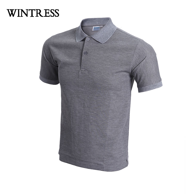 9e34fac60d1 WINTRESS Summer Breathable Men Polo Shirt Short Sleeve Solid Color England  Style Masculino Custom Pattern Print Logo-in Polo from Men s Clothing on ...