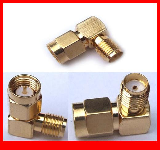 30PCS Copper SMA female to SMA Plug male adapter rightangle connector Adapters 50pcs male bnc to sma female coaxial plug for software defined radio adapters