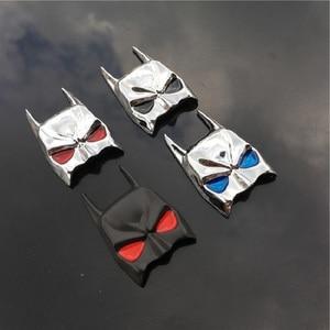 Image 5 - Masque 3D de Batman en métal, emblème de batman de voiture, décalque de moto, bouclier de pare chocs pour voiture, accessoires de stylisme