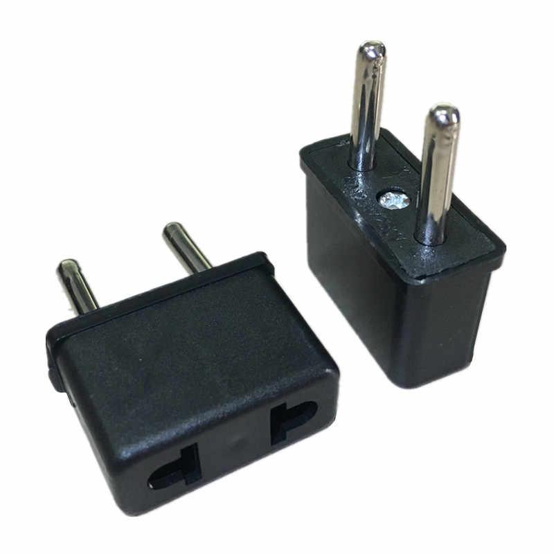 Europejskiej ue Travel Adapter amerykański usa do ue Euro wtyczka Adapter Outlet konwerter AC elektryczne gniazda zasilania