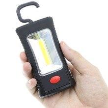 Portable Bright COB LED Work Light with Magnetic Folding Hook Multifunctional Flashlight Lanterna Camping Lamp use 3*AAA Battery