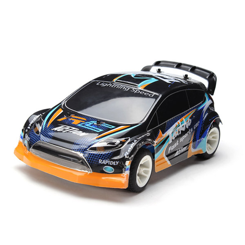 A242 1/24 4WD Electrical Rally Car RC Car 180 Brushed Remote Control Cars Toy  Free shipping