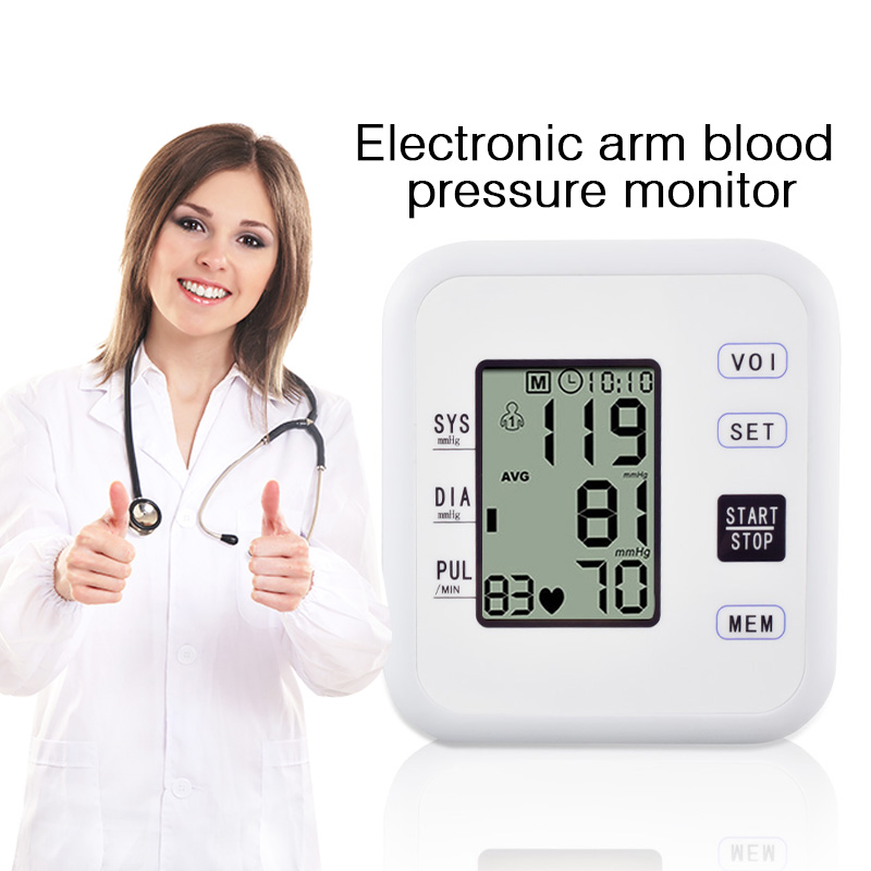 Digital LCD Automatic Arm Blood Pressure Monitor Heart Beat Rate Pulse Meter Machine Sphygmomanometer Home Health Care Monitors high quality arm blood pressure monitor home health care digital lcd fully automatic upper arm style heart beat rate pulse meter