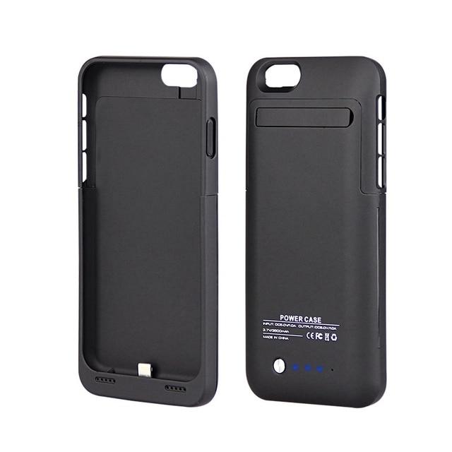 Pil iphone için kılıf 6 6g 6 s 3500 mAh Şarj Kılıf için Apple iphone 6 6s Bateria Eksterna de Celular Kapakları