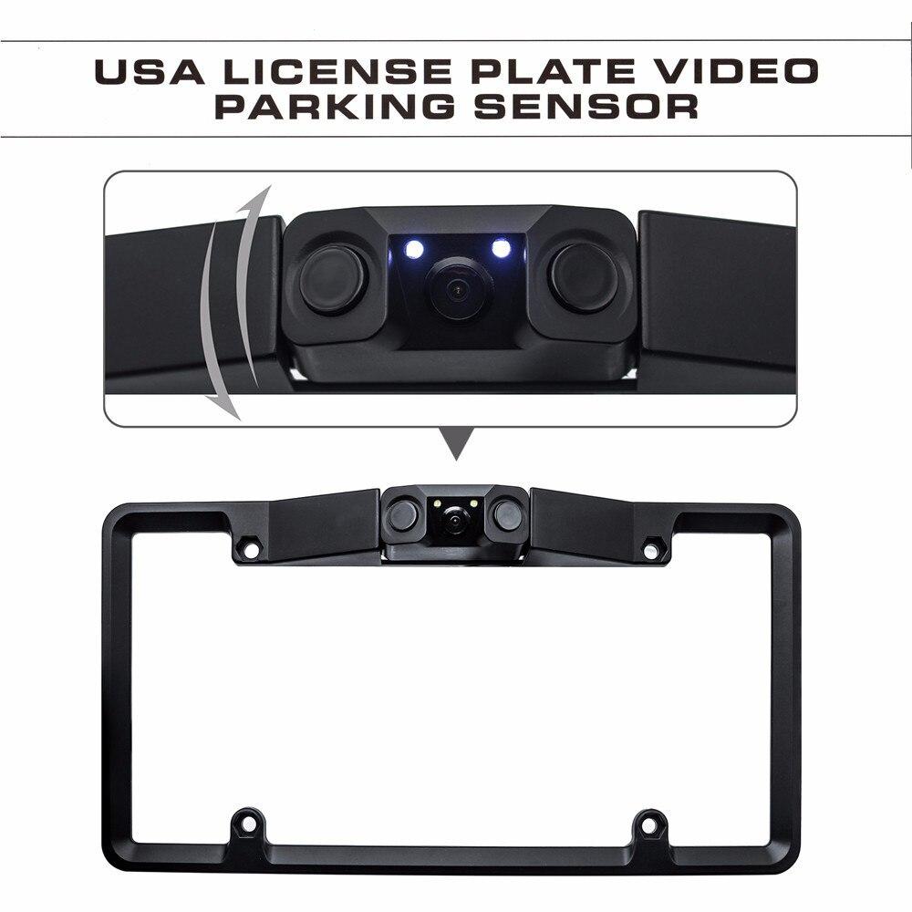 Car Parking Sensor HD Waterproof Shockproof Night Vision Reversing Backup 170 Car Rear View Camera for American license plate